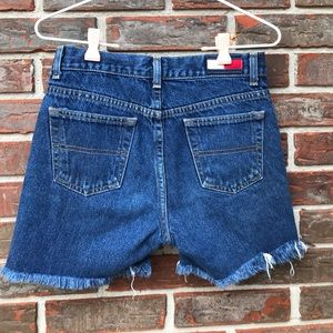 90's Tommy Hilfiger cut off shorts